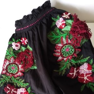 COPY - ZARA NWOT Black Embroidered Top Small